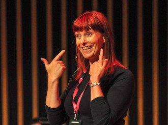 Sharon Durant, Durham Big Sing Workshop Leader, Copyright Chris Durant