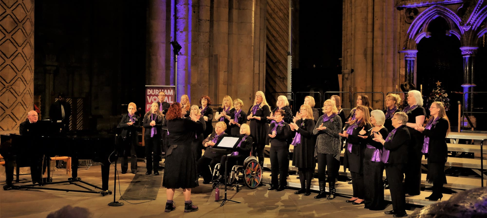 Unity Choir, led by The Singing Elf at Durham Vocal Festival at Durham Cathedral, Feb 2019