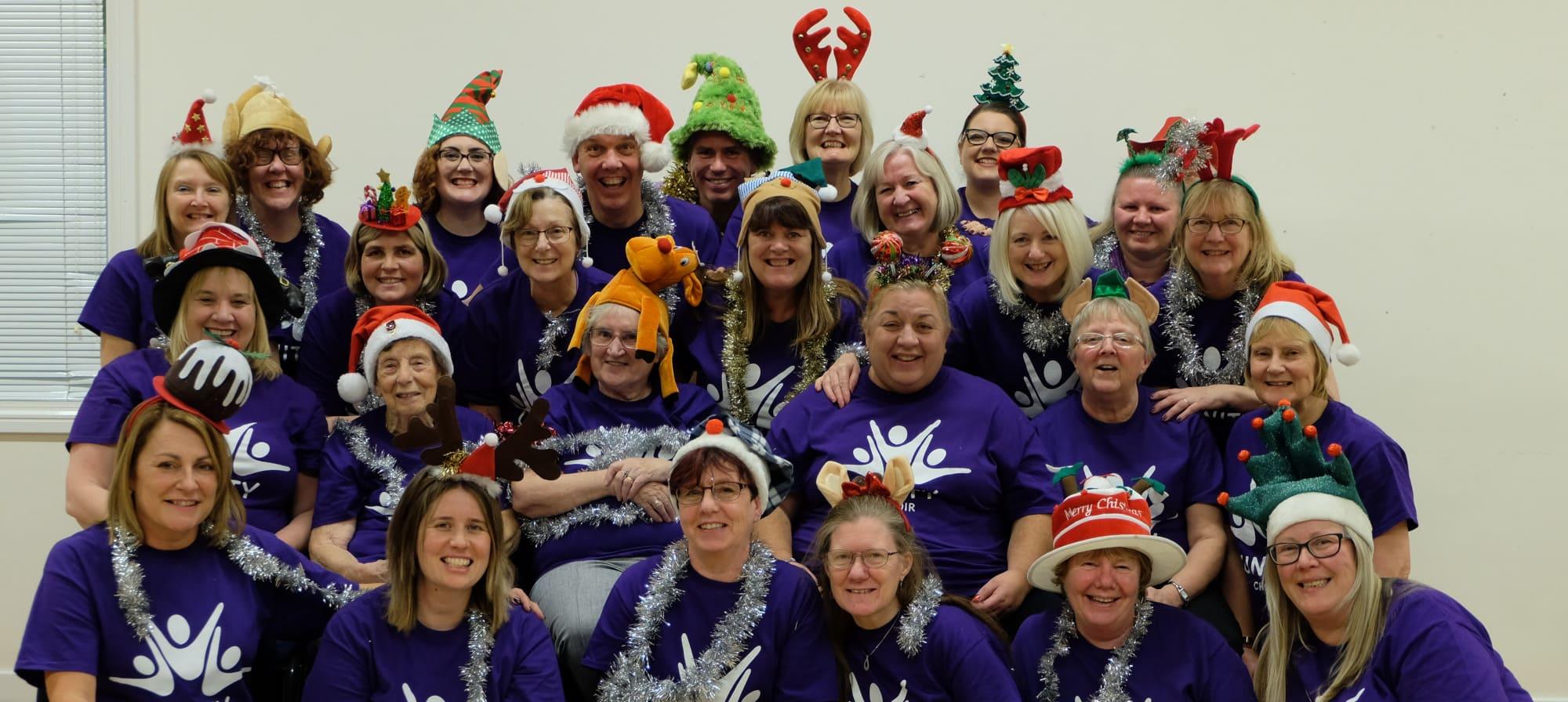 Unity Choir led by The Singing Elf, Christmas Photo Shoot 2018