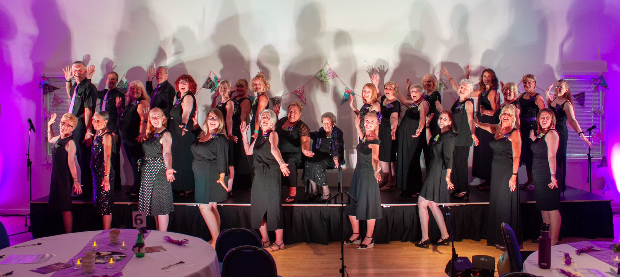 Unity Choir led by The Singing Elf at Summer Gala Songs from the Shows July 2018 at The Hetton Centre