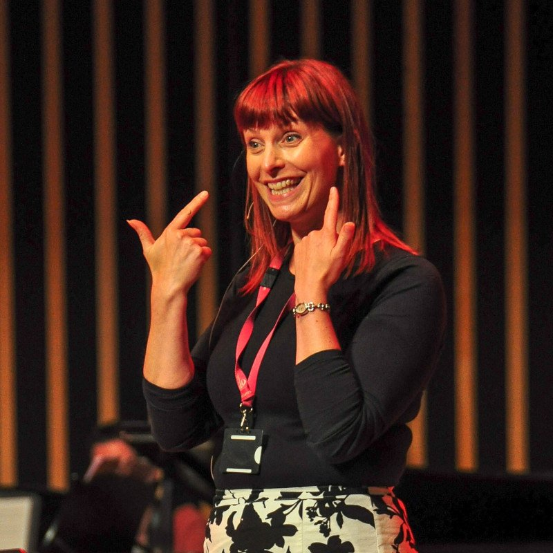 Sharon Durant, Durham Big Sing workshop leader, The Singing Elf, Gala Theatre Durham