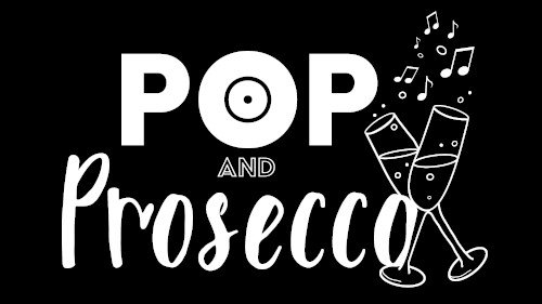 Pop & Prosecco Logo, The Singing Elf, Social Singing Event