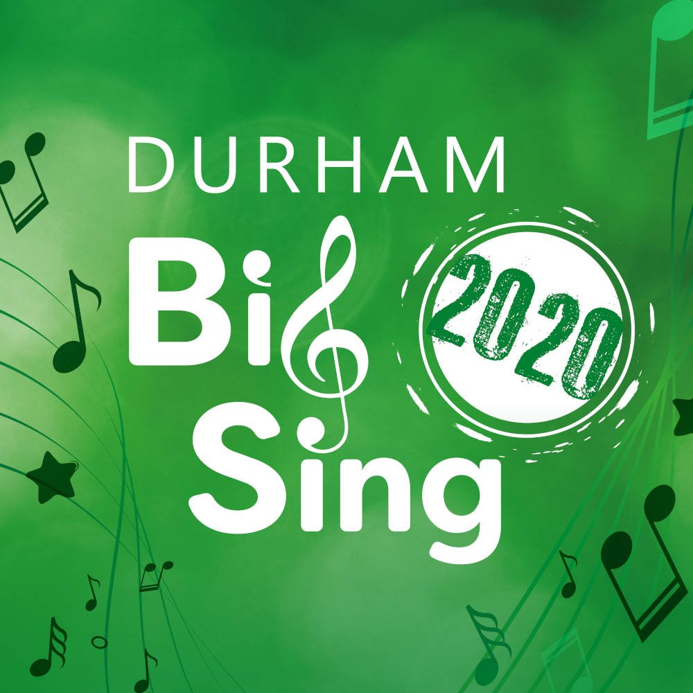 Durham Big Sing 2020 logo The Singing Elf