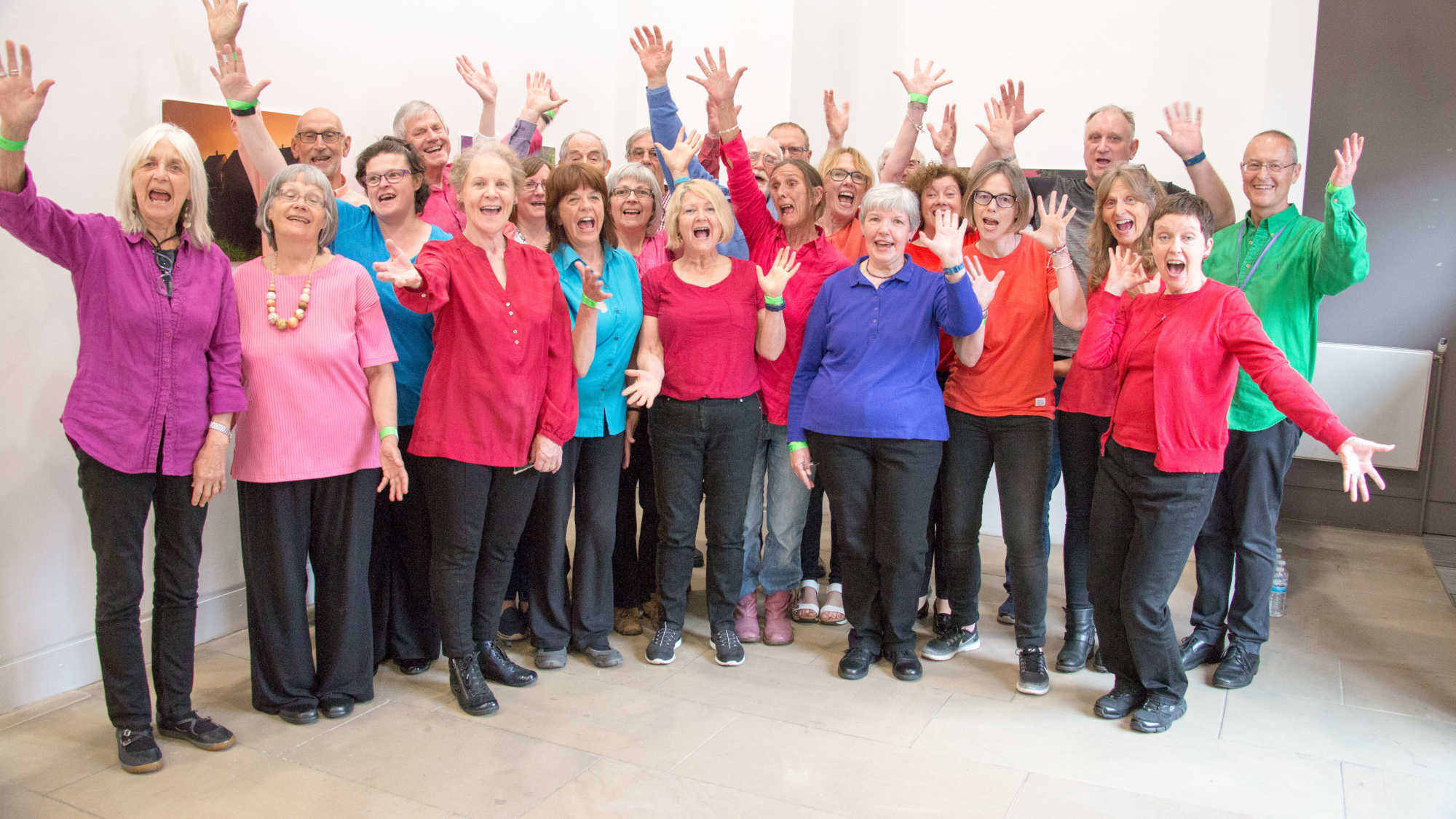 Durham Scratch Choir performing at Durham Big Sing 2019
