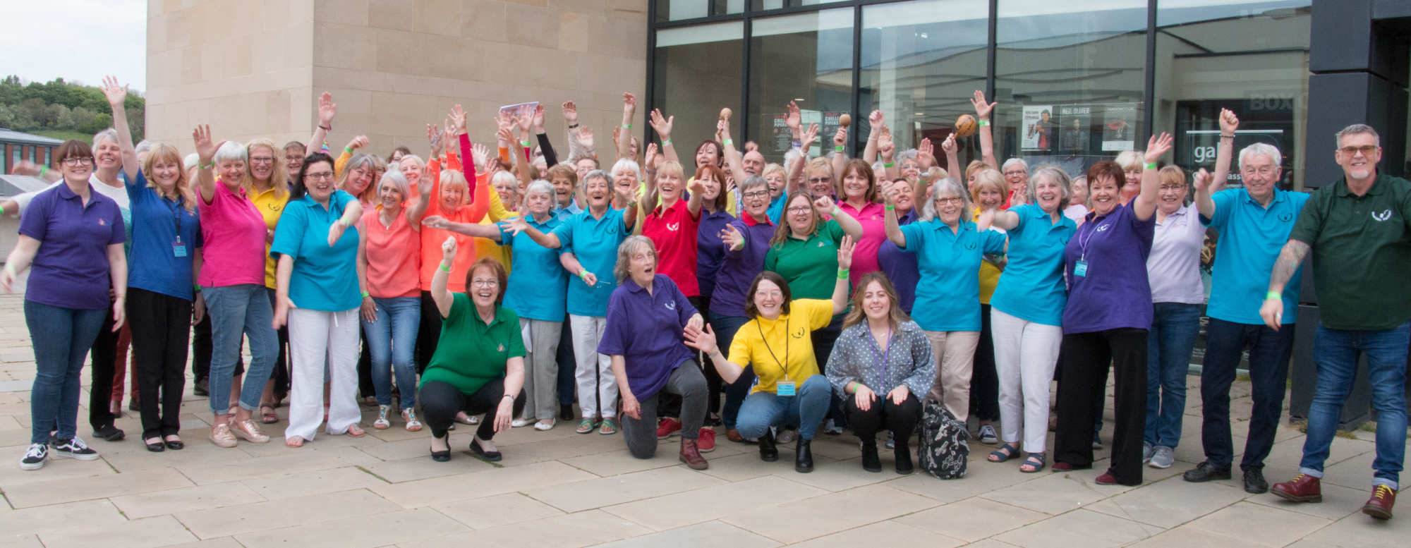 Singergy Cheering at Durham Big Sing 2019