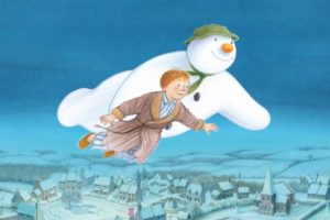 The Snowman Flying Image