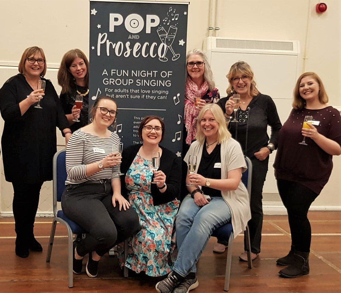 Pop & Prosecco with The Singing Elf at Framwellgate Moor Community Centre, Oct 2019