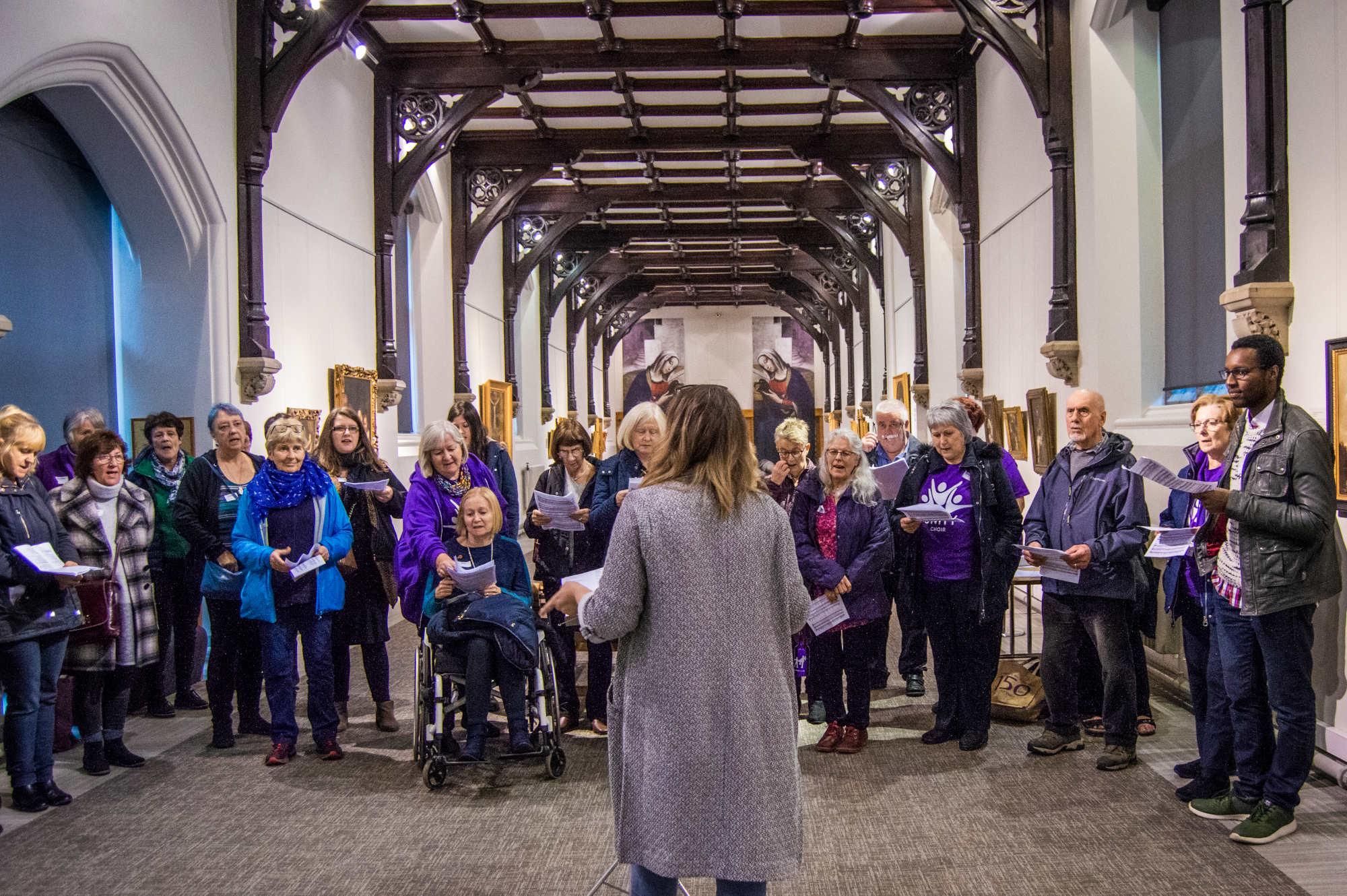 Sing the Spaces at Ushaw, The Sinigng Elf Nov 2019
